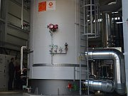Nový elektrodový kotel využívá k produkci tepla elektřinu.