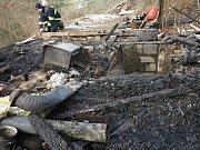 Ohořelé lidské tělo našli hasiči poté, co v noci ze středy na čtvrtek uhasili požár chatky v brněnských Bosonohách.