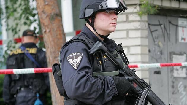 Zásah policistů v Líšni.
