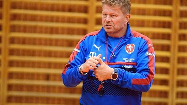 Kouč futsalové reprezentace Tomáš Neumann.