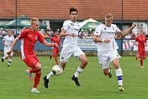 29.8.2020 - domácí SK Líšeň v bílém (10 Marek Matocha a 5 Michal Jeřábek) proti FK Blansko