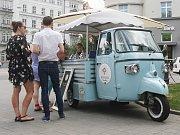 Pojízdná zmrzlina v Brně.