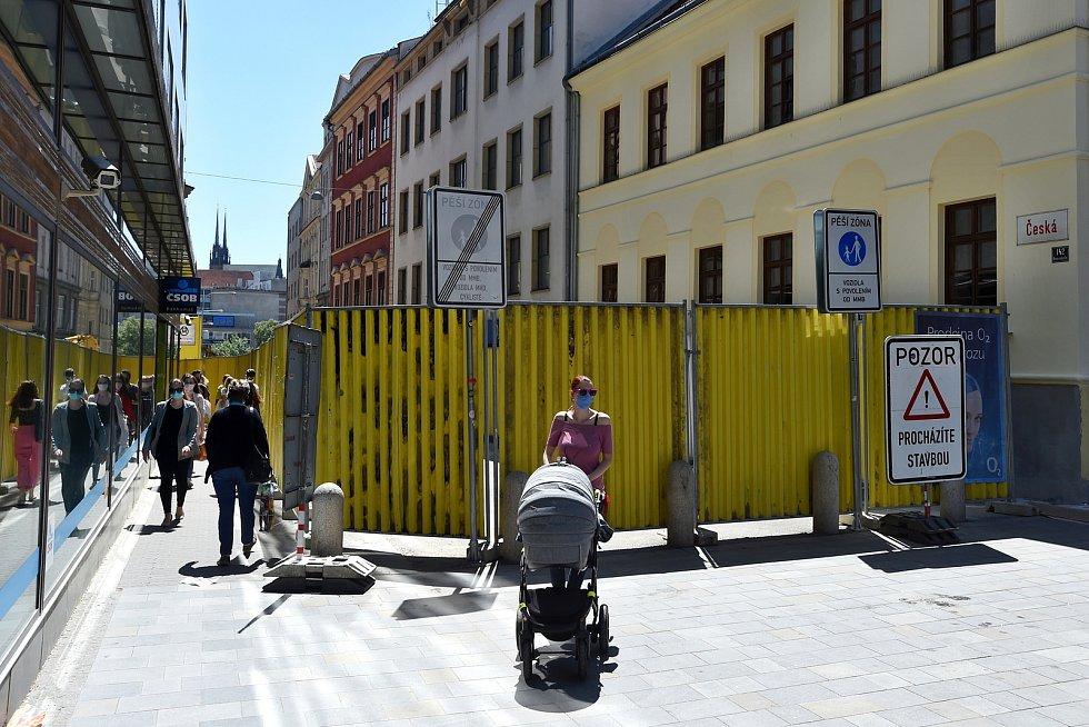 Výměna parovodů za modernější horkovody se týkala také centra Brna.