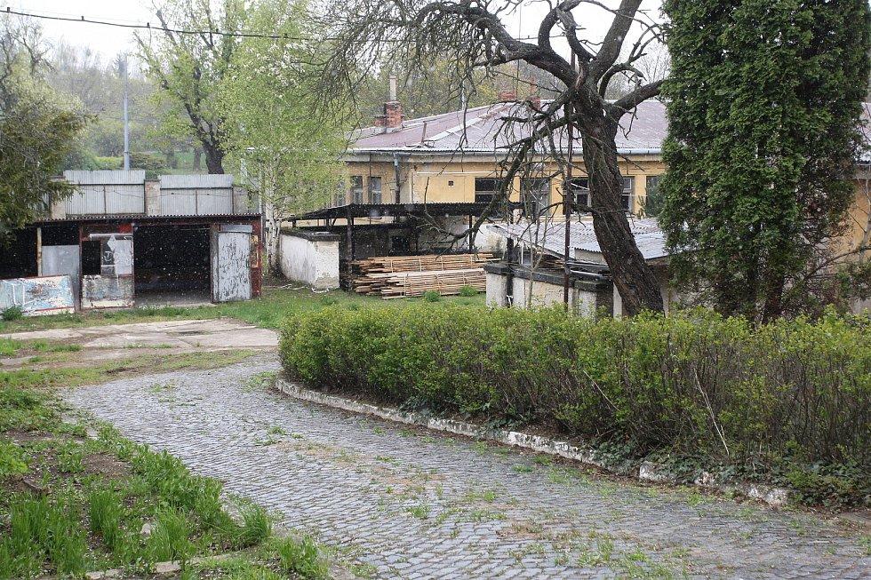 Areál bývalých kasáren v brněnské Lerchově ulici.