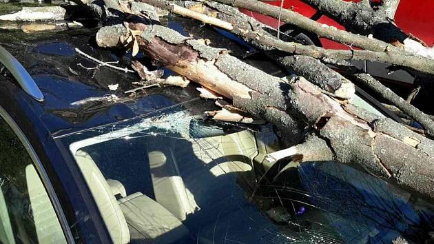 Přes stovku zásahu mají hasiči kvůli silnému větru.