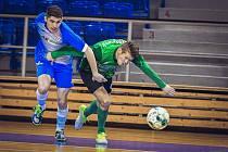 Helas Brno (v modrém) remizoval v derby na domácí palubovce se Žabinskými Vlky 3:3.