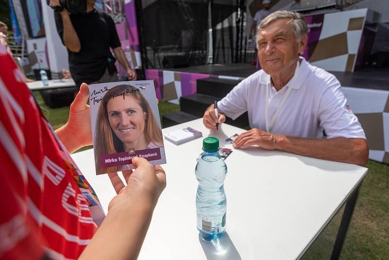 V neděli navštívili Olympijský festival v Brně cyklista Jiří Daler a skifařka Miroslava Knapková.