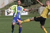Fotbalisté Rosic zvítězili v jihomoravském derby nad Tasovicemi 2:1 a upevnili si třetí příčku v divizi D.