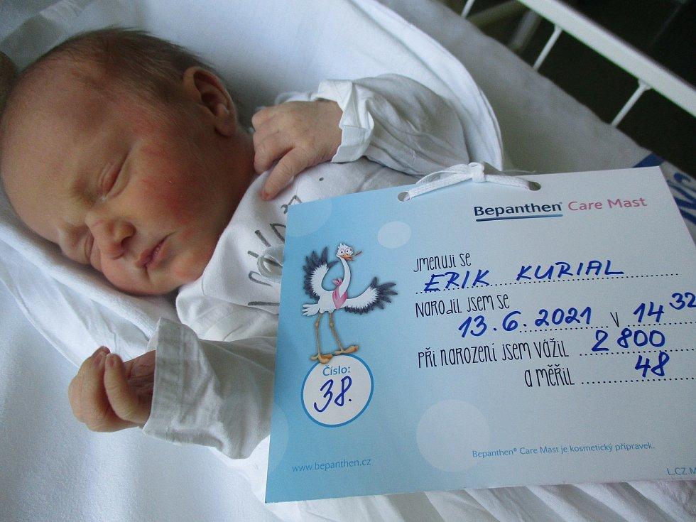 Erik Kurial, 13. června 2021, Břeclav, Nemocnice Břeclav, 2800 g, 48 cm