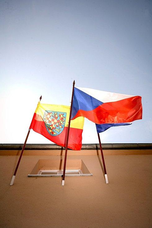 Oslavy výročí příchodu věrozvěstů Cyrila a Metoděje nejen mší, ale také vyvěšením moravské vlajky.