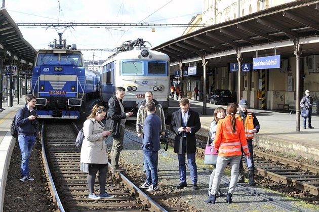 Srážka vlaků vBrně.