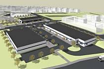 Jak má vypadat plánovaný supermarket Albert na sídlišti Kamechy.