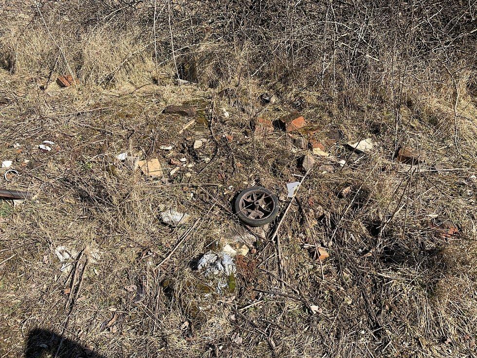 Černovická terasa. V těchto místech mají být v budoucnu stavební pozemky. Snímky jsou ze 7. března. Foto: Lukáš Málek