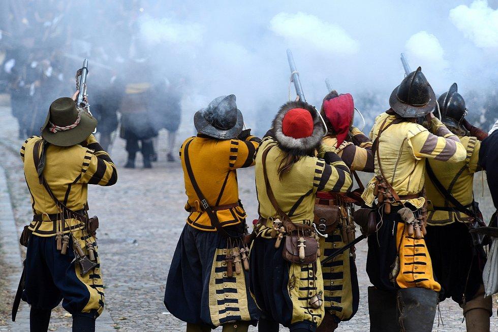 Historická bitva u brněnského hradu Špilberk.