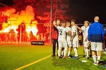 Fanoušci Baníku Ostrava, nováčka Superligy malého fotbalu.