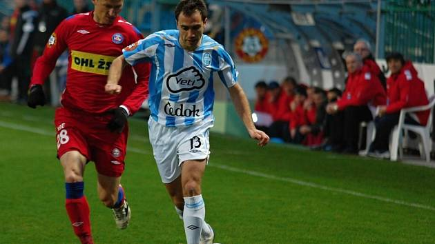 Marek Heinz 1. FC Brno a Tomáš Poláček z Mladé Boleslavi.