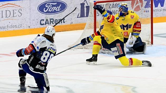 Hokejisté Komety ve vánočním duelu rozstříleli České Budějovice.