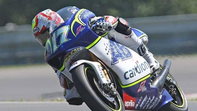 Karel Abraham jezdí za tým Cardion AB Motoracing.