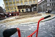 Odvoz betlému z náměstí Svobody v Brně.
