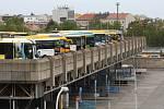 Brněnské autobusové nádraží Zvonařka.
