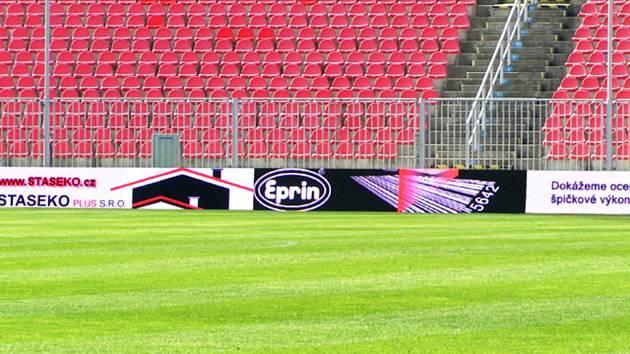 Fotbalový stadion v Brně.