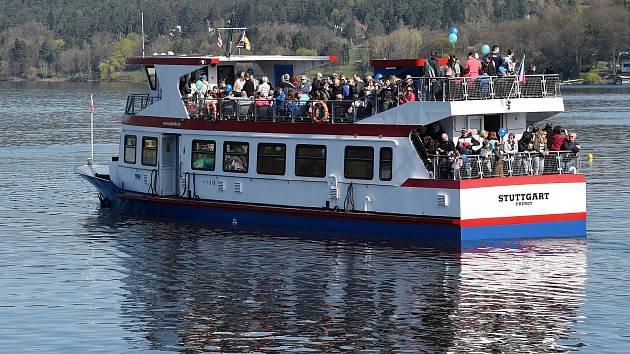 Zahájení plavební sezony DPmB na Brněnské přehradě.