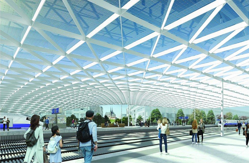 Návrh podoby nového hlavního vlakového nádraží v Brně od ingenhoven architects GmbH, Architektonická kancelář Burian-Křivinka, architekti Koleček-Jura. V architektonické soutěži skončil na třetím místě.
