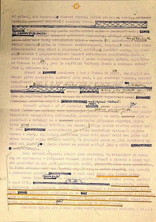 Originál Charty 77 vystavuje poprvé v historii Ústavní soud.