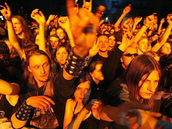 Ilustrační foto. Metalový koncert.
