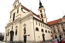 Barokní kostel sv. Tomáše v Brně.