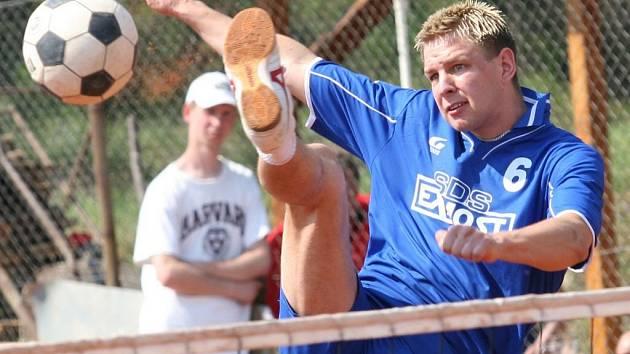 Nohejbalisté Sokola Modřice (na snímku Radek Pelikán) loni získali titul.