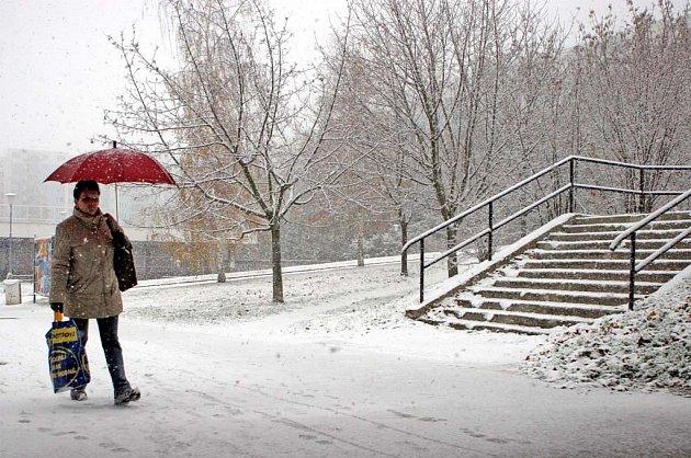 Sníh přikryl Brno.