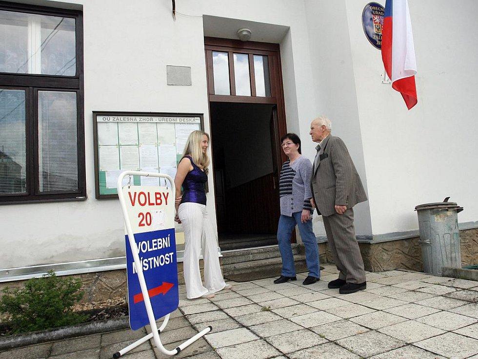 Volby 2010 v Zálesné Zhoři. Ilustrační fotografie.