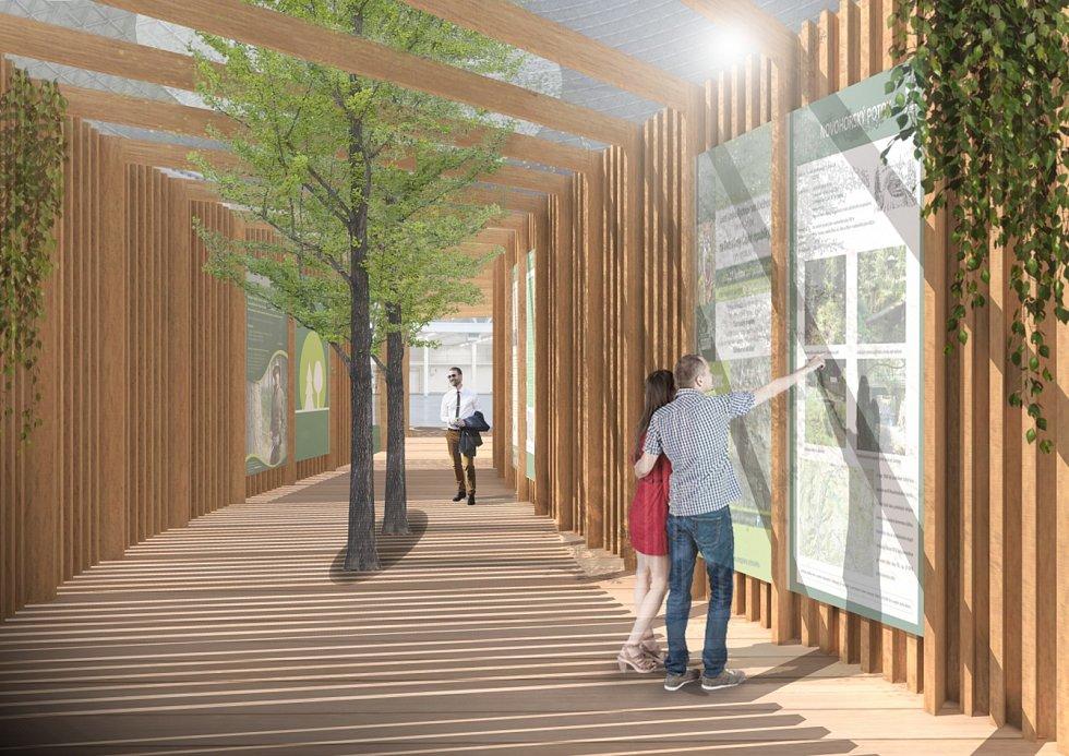 Výstavní stánek Cesta lesem.