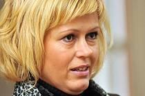Staniční sestra Romana Hanušová u krajského soudu v Brně.