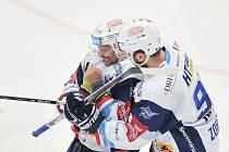 Hokejista Jan Hruška (vlevo).