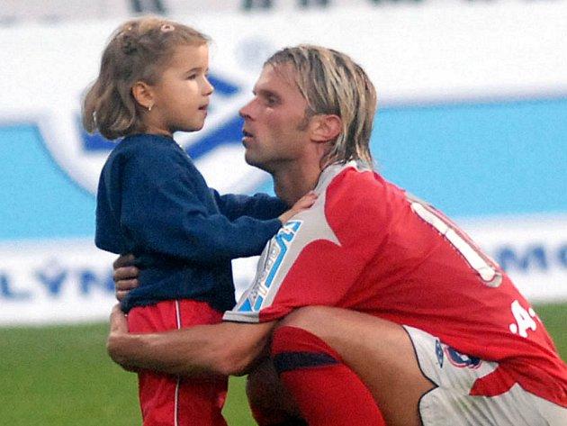 Patrik Siegl s dcerou.