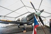 Výstava historie československých pilotů RAF v pavilonu Morava na brněnském výstavišti.