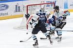 Brno 29.11.2020 - domácí Kometa v modrém (Karel Vejmelka) proti hostům z Liberce (Mislav Rosandič)