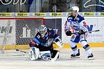 HC Kometa Brno v bílem (Tomáš Plekanec) proti Bílým Tygrům Liberec (Roman Will)