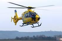 Vrtulník Zdravotnické záchranné služby. Ilustrační foto.