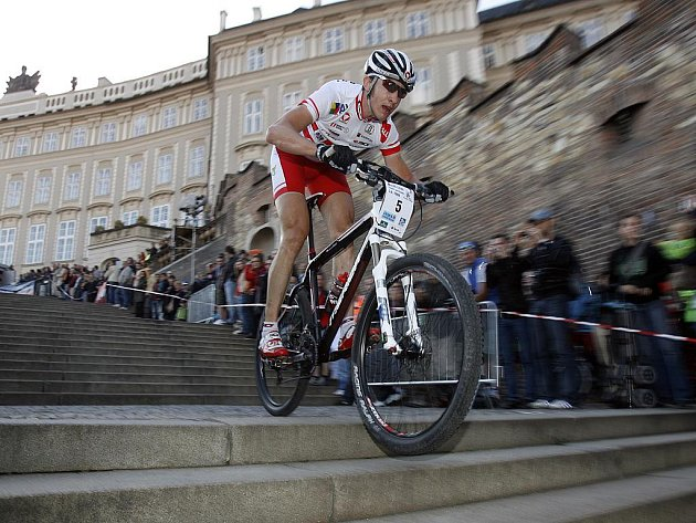 Cyklista brněnského Merida Biking Teamu Christoph Soukup.