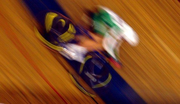 Z mistrovství republiky v dráhových disciplínách v pražském Motole.