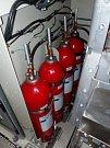 Hasicí systém, který dokáže zaplnit úplně celou strojovnu a požár uhasit.