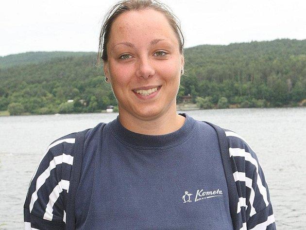 Brněnská plavkyně Magda Okurková.