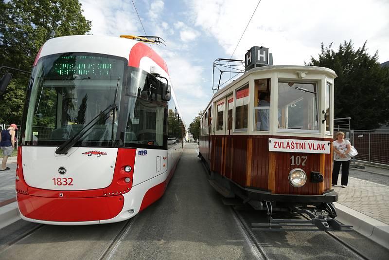 V pondělí 20. září se vrací provoz tramvají do Lesnické ulice po rekonstrukci sítí i vozovky.