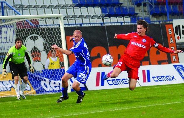 Brankář Martin Lejsal a kapitán Jan Trousil (vpravo) sice mají na podzim solidní formu, ale většina jejich spoluhráčů je na tom zatím o poznání hůř.