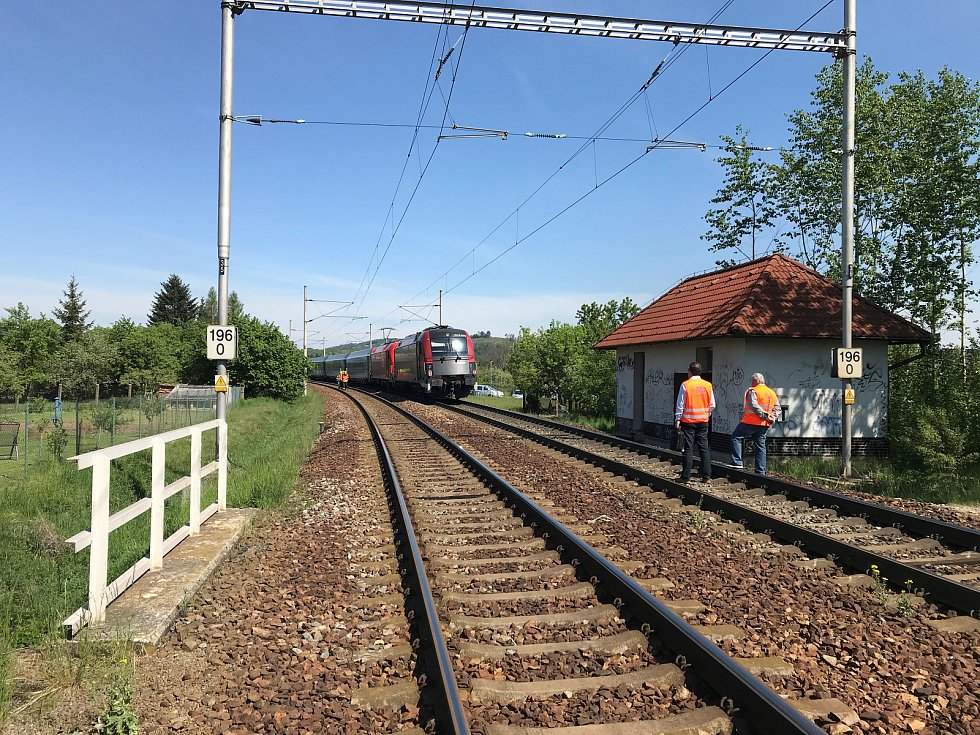 Železniční přejezd ve Svitávce.