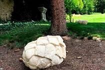 Ve čtvrtek odpoledne odstartovala vernisáží výstava Z kamene v zahradě vily Löw-Beer.