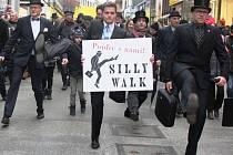 Centrem Brna v sobotu prošli příznivci švihlé chůze.